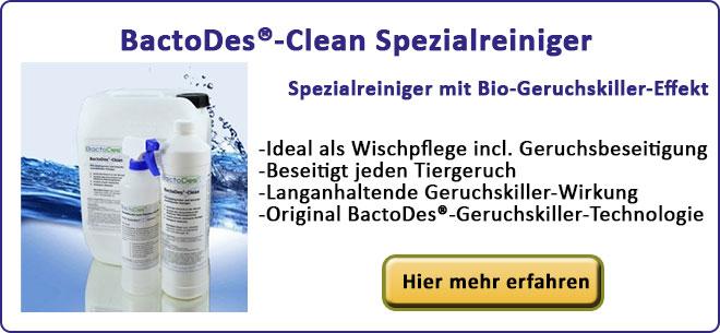 Spezialreiniger mit Bio-Geruchskiller-Effekt